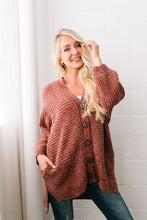 Load image into Gallery viewer, Faded Memories Chenille Cardigan In Rust
