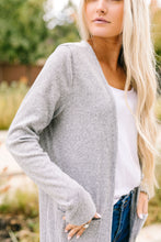 Load image into Gallery viewer, Farmer's Market Two-Tone Cardi In Gray