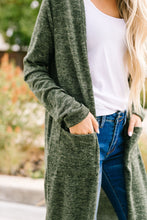 Load image into Gallery viewer, Farmer's Market Two-Tone Cardi In Olive