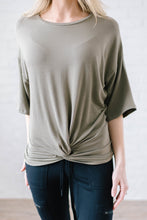 Load image into Gallery viewer, Feeling Knotty Tee in Olive