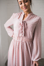Load image into Gallery viewer, First Blush Swiss Dot Dress - ALL SALES FINAL