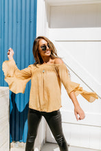 Load image into Gallery viewer, Flirty Flounce Top In Golden Honey