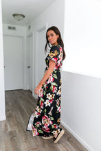 Load image into Gallery viewer, Floral Bouquet Maxi Dress In Black