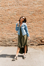 Load image into Gallery viewer, Free And Easy Maxi Dress In Olive - ALL SALES FINAL