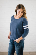 Load image into Gallery viewer, Game Day Long Sleeve Tee in Blue