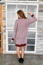Load image into Gallery viewer, Georgia On My Mind Dress In Gray + Brick - ALL SALES FINAL