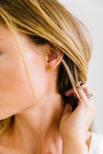 Load image into Gallery viewer, Gold Chevron Earrings