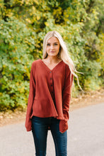 Load image into Gallery viewer, Harvest Buttondown In Burgundy - ALL SALES FINAL