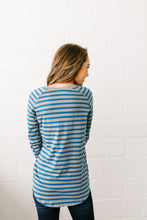 Load image into Gallery viewer, Headstrong Henley In Teal + Gray - ALL SALES FINAL