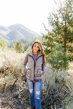 Load image into Gallery viewer, Heather Herringbone Padded Vest - ALL SALES FINAL
