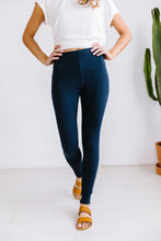 Load image into Gallery viewer, High Waist Leggings In Navy