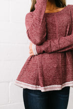 Load image into Gallery viewer, Hipster Heathered Tunic In Faded Burgundy - ALL SALES FINAL