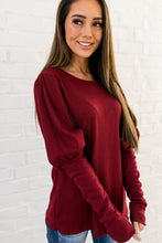 Load image into Gallery viewer, It's All About The Sleeves Waffle Knit Top - ALL SALES FINAL