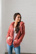Load image into Gallery viewer, It's So Fluffy Sherpa Hoodie In Auburn - ALL SALES FINAL