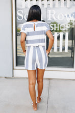 Load image into Gallery viewer, Jailbird Blues Romper