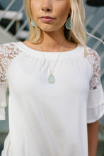 Load image into Gallery viewer, Light Mint Pendant Necklace - ALL SALES FINAL