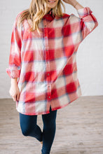 Load image into Gallery viewer, Mad About Plaid Tunic in Red