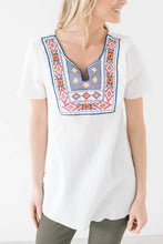 Load image into Gallery viewer, Maria Embroidered Top