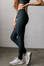 Load image into Gallery viewer, Mesh Moto Athletic Leggings In Pine