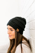 Load image into Gallery viewer, Nifty Knit Beanie In Black