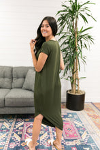 Load image into Gallery viewer, Olive Angled Hem T-Shirt Dress