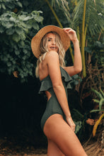 Load image into Gallery viewer, Olive Ruffle One Piece