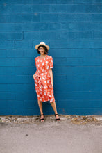 Load image into Gallery viewer, Passion Flower Persimmon Dress