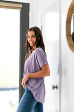 Load image into Gallery viewer, Pastel Draped V-Neck Top In Lilac