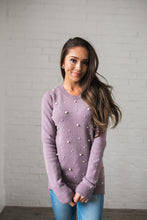 Load image into Gallery viewer, Pearl Among Sweaters In Dusty Lavender - ALL SALES FINAL