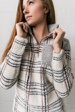 Load image into Gallery viewer, Copper And Plaid Fuzzy Pullover