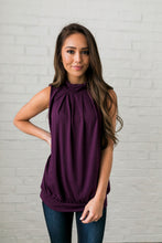 Load image into Gallery viewer, Pleats A Plenty In Plum - ALL SALES FINAL