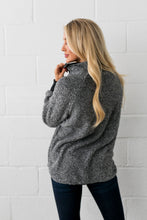 Load image into Gallery viewer, Quilted Contrast Fuzzy Pullover In Charcoal