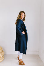 Load image into Gallery viewer, Rainy Day Trench Coat In Navy - ALL SALES FINAL