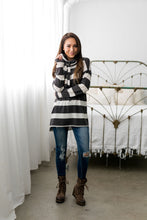 Load image into Gallery viewer, Read Between The Lines Cowl Neck - ALL SALES FINAL