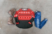 Load image into Gallery viewer, Reindeer Games Holiday Sweater In Red