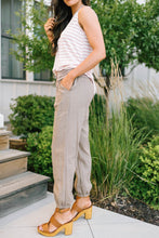 Load image into Gallery viewer, Relaxed Mocha Linen Pants
