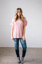 Load image into Gallery viewer, Reve Ruffle Top in Pink