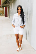 Load image into Gallery viewer, Right Stuff White Denim Shorts