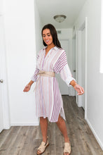Load image into Gallery viewer, Risky Business Striped Dress - ALL SALES FINAL