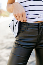 Load image into Gallery viewer, Rock Bottom Waxy Jeans In Black - ALL SALES FINAL