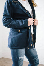 Load image into Gallery viewer, Scouting It Out Fur Lined Jacket in Navy