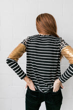Load image into Gallery viewer, Sequins Spots + Stripes Top