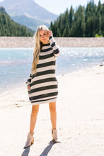 Load image into Gallery viewer, Silver Lining Striped Sweater Dress