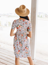 Load image into Gallery viewer, Striped Flower Garden Dress