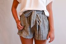 Load image into Gallery viewer, Striped Paper Bag Shorts