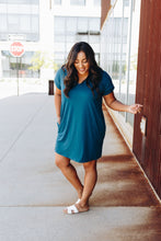Load image into Gallery viewer, Summer Comfort Dress In Teal