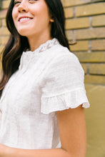 Load image into Gallery viewer, Sybil Lace Button-Down Blouse