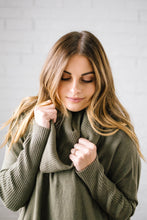 Load image into Gallery viewer, The Cassidy Cowl Neck Sweater in Olive