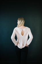 Load image into Gallery viewer, The Evelyn Drape Blouse in Taupe