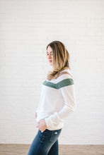 Load image into Gallery viewer, The Harlow Striped Long Sleeve Top in Cream